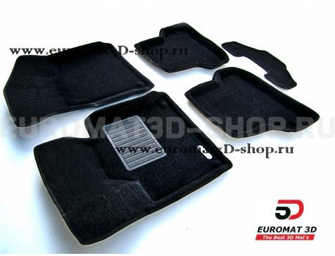 Текстильные 3D коврики Euromat3D Business в салон для Audi A3 (2008-2013) № EMC3D-001100