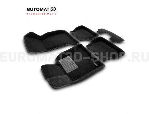 Текстильные 3D коврики Euromat3D Business в салон для Bmw 5 (E60) (2003-2010) № EMC3D-001204
