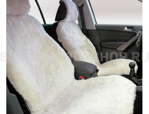 Накидка на сиденья автомобиля из искусственного меха Euromat Tex (белая) № EUSH-004003