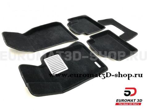 Текстильные 3D коврики Euromat3D Lux в салон для Bmw 4 (F32/33) (2012-2019) № EM3D-001221