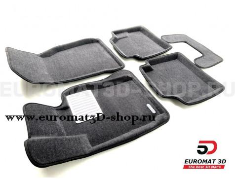 Текстильные 3D коврики Euromat3D Lux в салон для Bmw 4 (F32/33) (2012-2019) № EM3D-001221G Серые