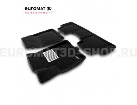 Текстильные 3D коврики Euromat3D Lux в салон для Cadillac XT6 (2021-) № EM3D-001307