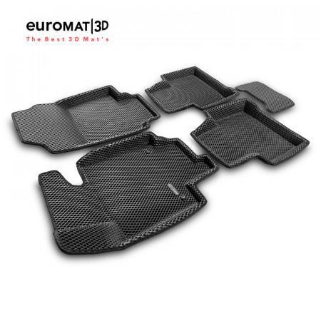 3D коврики Euromat3D EVA в салон для Toyota Rav 4 (2019-) (МКПП) № EM3DEVA-005105.1