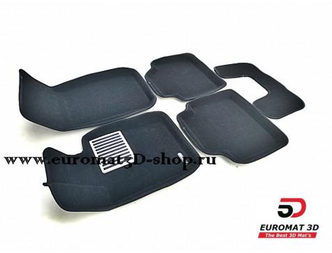 Текстильные 3D коврики Euromat3D Lux в салон для Bmw 3 (F30) X-Drive (2010-2018) № EM3D-001223